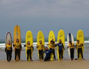 Hen party surfing lessons in Cornwall. Best surf school in Cornwall
