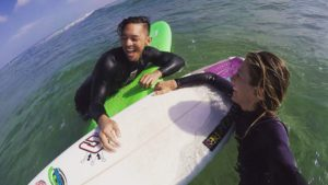 Private Surfing Lessons with Pro surfer and surf coach Tehillah McGuinness
